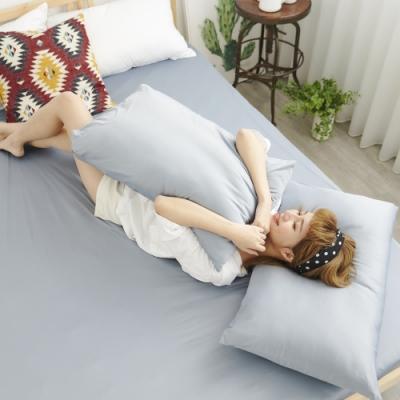 Adorar COOL沁涼純粹素色美式薄枕套2入-灰