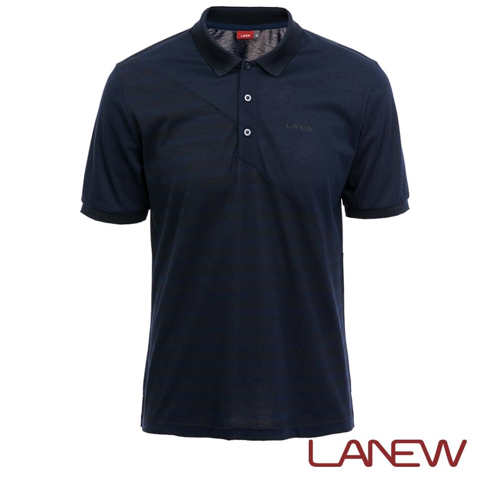 LA NEW 沁涼絲光印花POLO衫(男261120170)