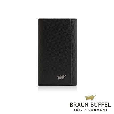 BRAUN BUFFEL -席德系列鎖圈鑰匙包 - 雅典黑