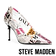 STEVE MADDEN-LILLIE-V 文字印花尖頭高跟鞋-印花白 product thumbnail 1