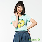bossini女裝-印花短袖T恤51藍綠
