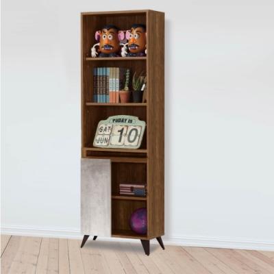 D&T 德泰傢俱 DINO清水模風格2尺書櫃 -60.5x32x181cm