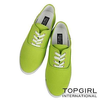 【TOP GIRL】繽紛糖果系列帆布鞋-女-中綠