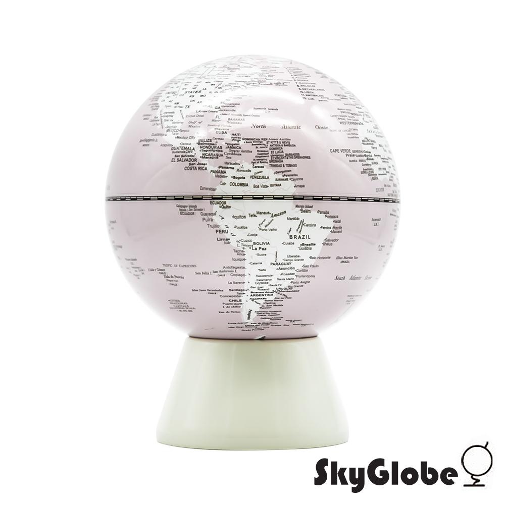 SkyGlobe 5吋存錢筒地球儀(英文版)-粉紅