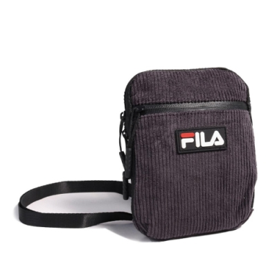 Fila 斜背包 Corduroy Shoulder Bag 斐樂 外出 輕便 小包 穿搭 燈心絨 紫 黑 BSU9006BK