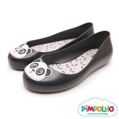 Pimpolho 可愛貓熊娃娃鞋-童-黑色