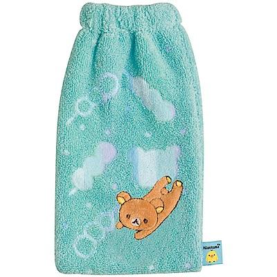 San-X 拉拉熊歡樂時光系列棉絨水壺套。綠  San-X