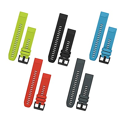 GARMIN QUICKFIT 22mm 矽膠原廠錶帶