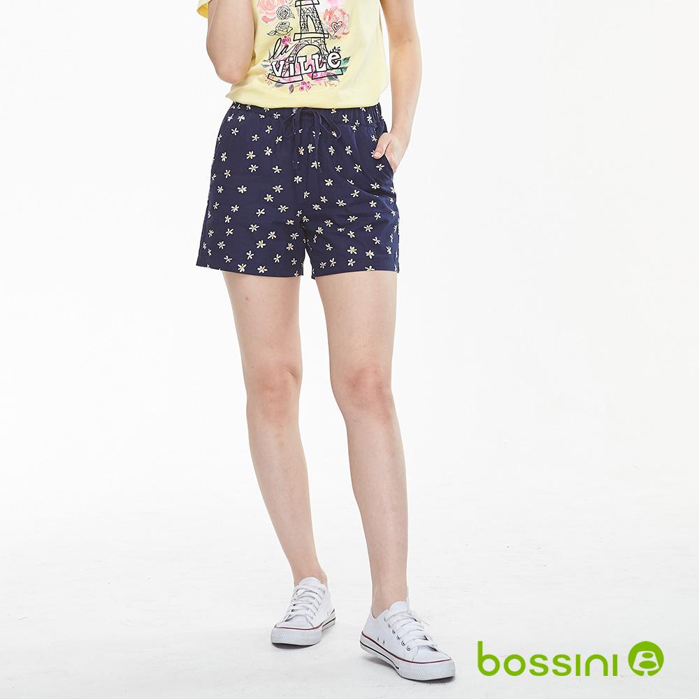 bossini女裝-印花輕便短褲01藏藍色