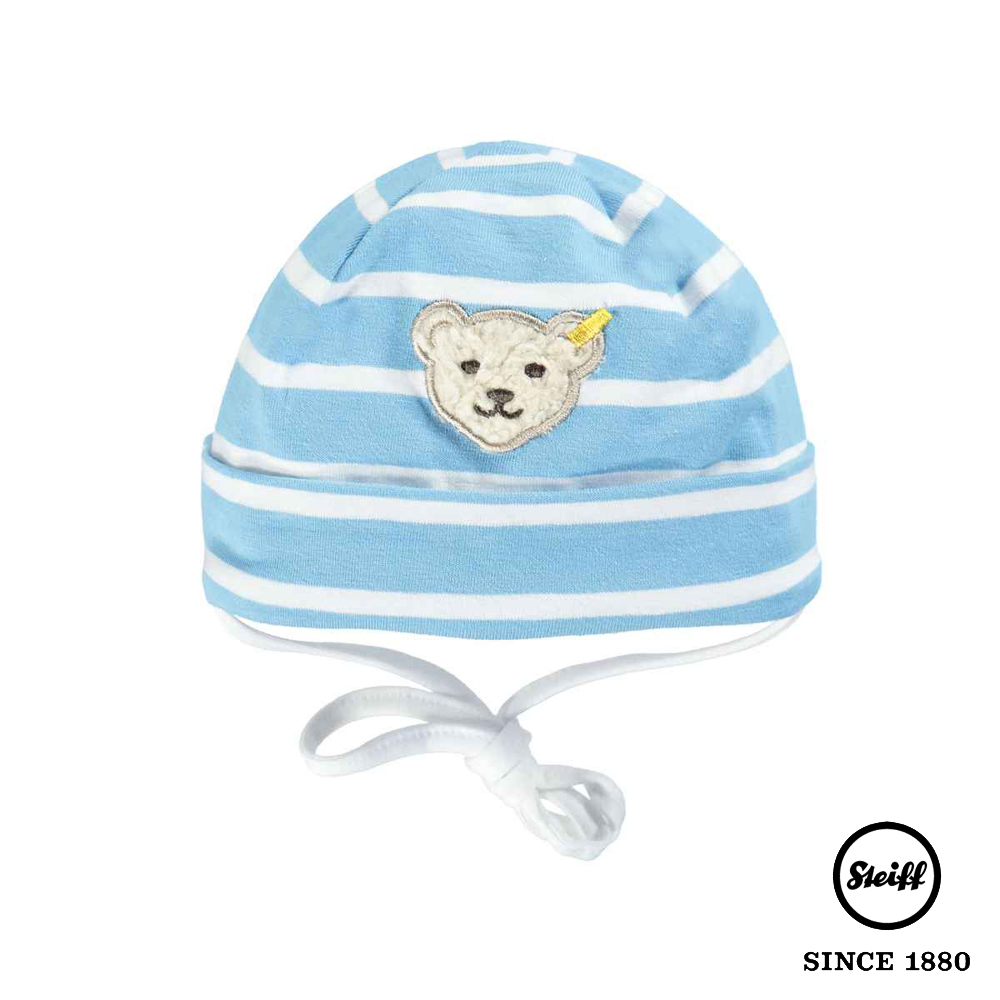 STEIFF德國精品童裝 水藍條紋圓頂帽
