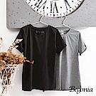 Begonia 後小V蝴蝶結褶袖彈性上衣(共兩色)