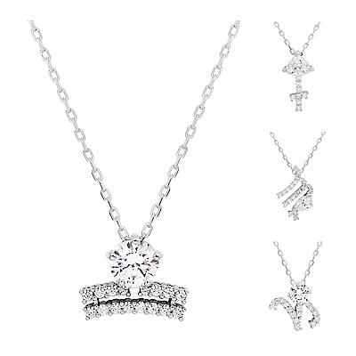 [品牌週強勢開打]SWAROVSKI 施華洛世奇 Zodiac II璀璨水晶星座造型銀色項鍊(多款可選)