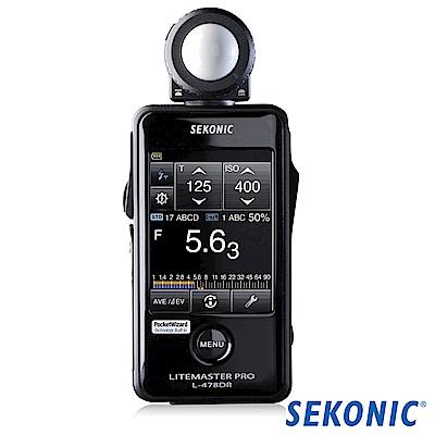 SEKONIC 迎光 L-478DR 觸控式測光表(攝影/電影)-公司貨