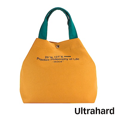 Ultrahard Traveler兩用托特包- 經緯度/台北(土黃綠)