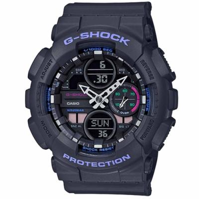 G-SHOCK 超人氣指針數位雙顯錶款 GMA-S140-8 黑 47mm