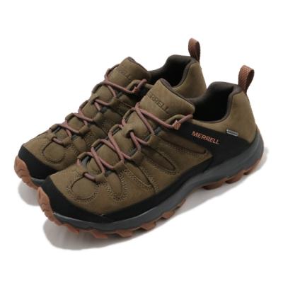 Merrell 戶外鞋 Ontonagon Peak 運動休閒 男鞋 登山 越野 耐磨 防水 支撐 氣墊 緩震 綠 黑 ML035241
