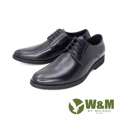W&M(男) 真皮素面正裝皮鞋 男鞋 - 黑(另有咖)
