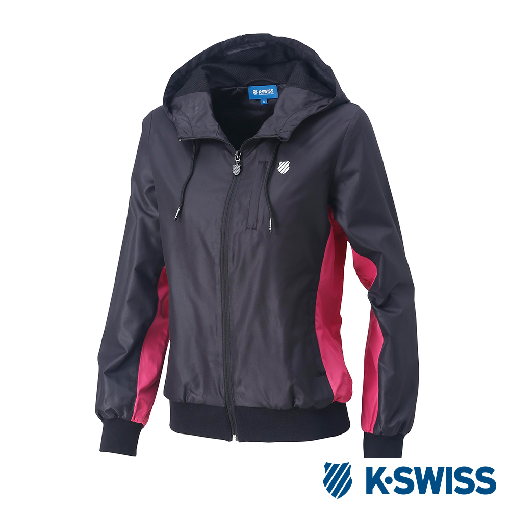 K-SWISS Contrast Side Panel Windbreaker-女-黑