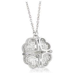 Folli Follie 銀色Heart4Heart水晶鑲嵌項鍊