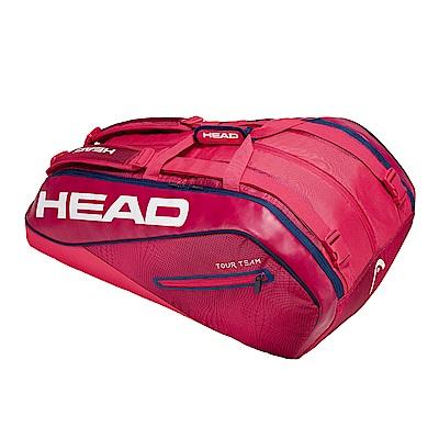 HEAD奧地利 Tour Team系列 12支裝球拍袋-莓紅 283109
