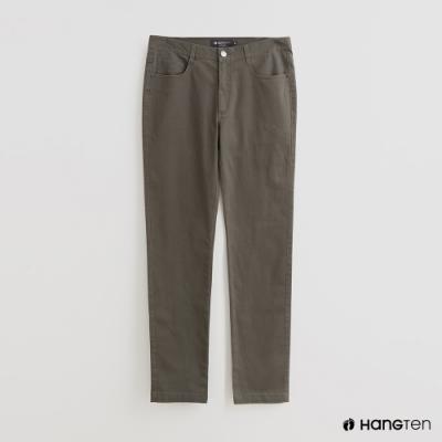Hang Ten - 男裝 - 純色雙口袋休閒長褲 - 綠