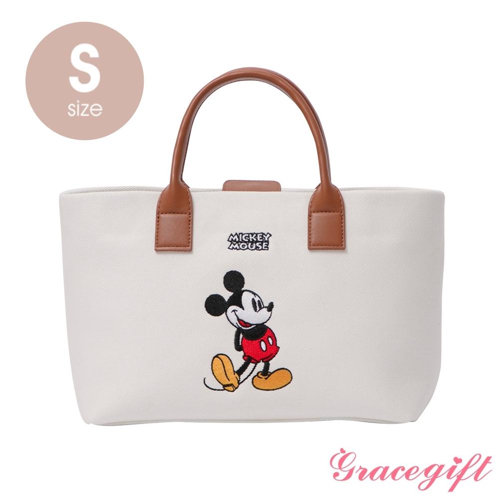 Disney collection by grace gift–唐葳設計迪士尼米奇2WAY帆布包S 白