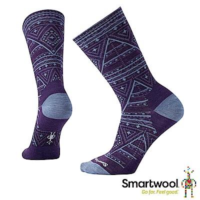 SmartWool 女 幾何圖形中長襪 山嵐紫