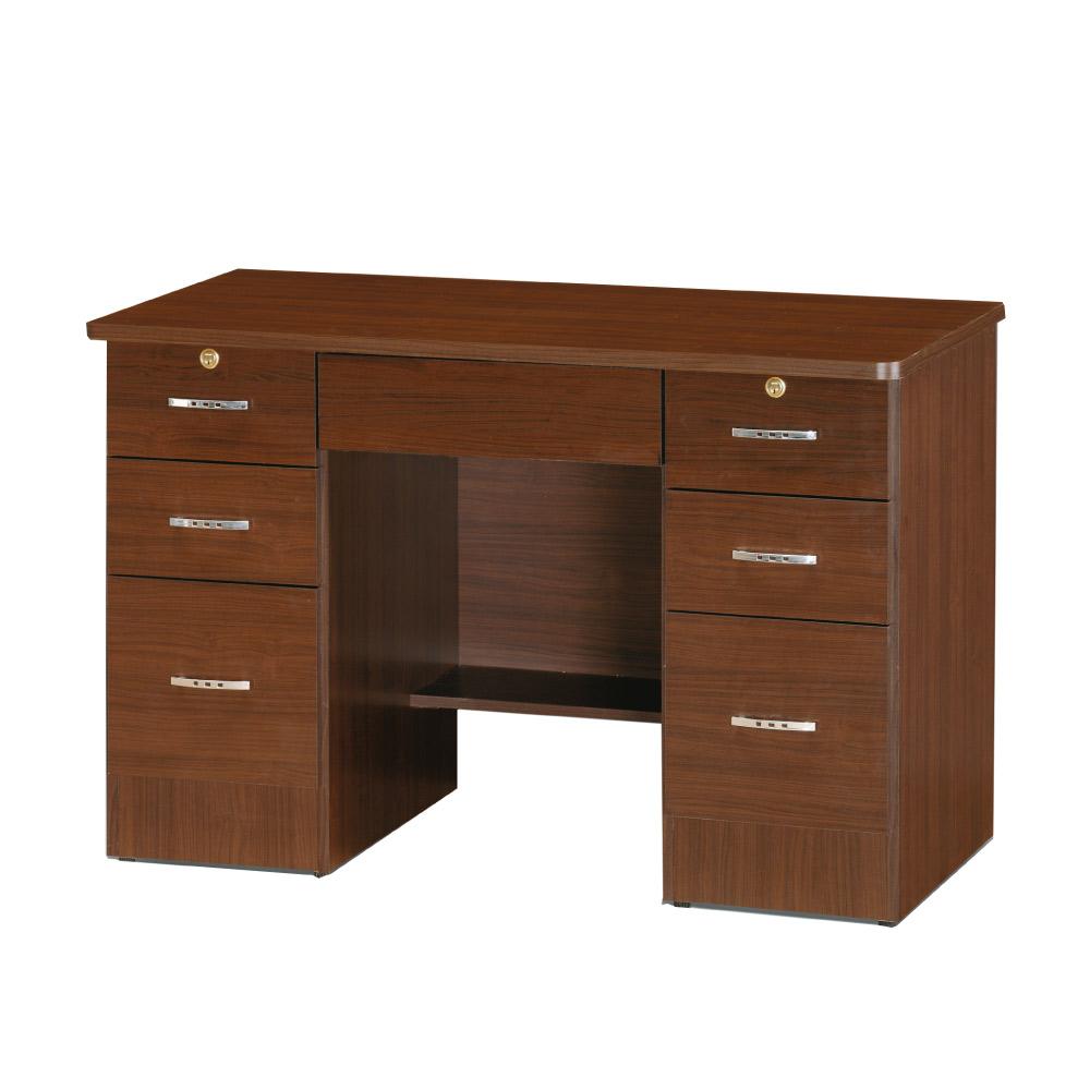 綠活居 摩奇斯時尚4尺木紋書桌/電腦桌(二色可選) -120x60x78cm-免組
