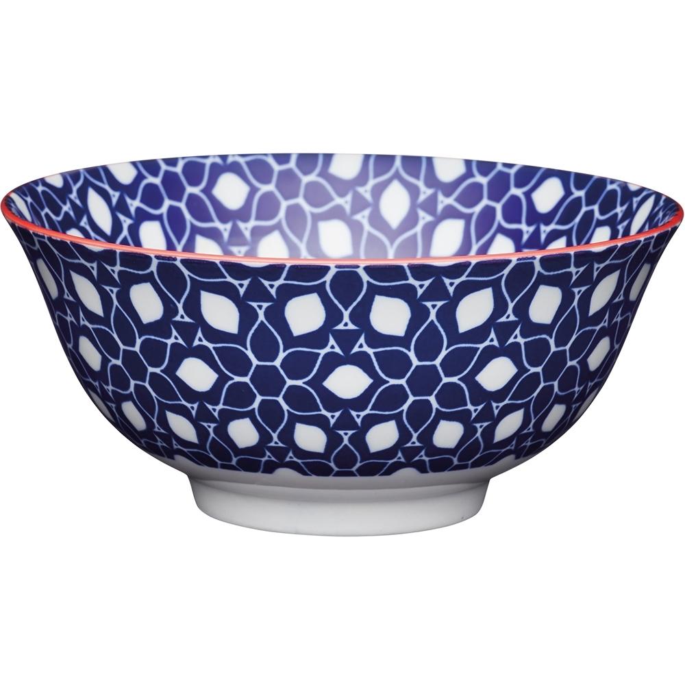 《KitchenCraft》陶製餐碗(瓷磚藍)