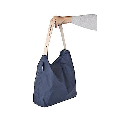 美國July Nine 壽司包 收納式時尚托特包 (肩背單色版) 深藍