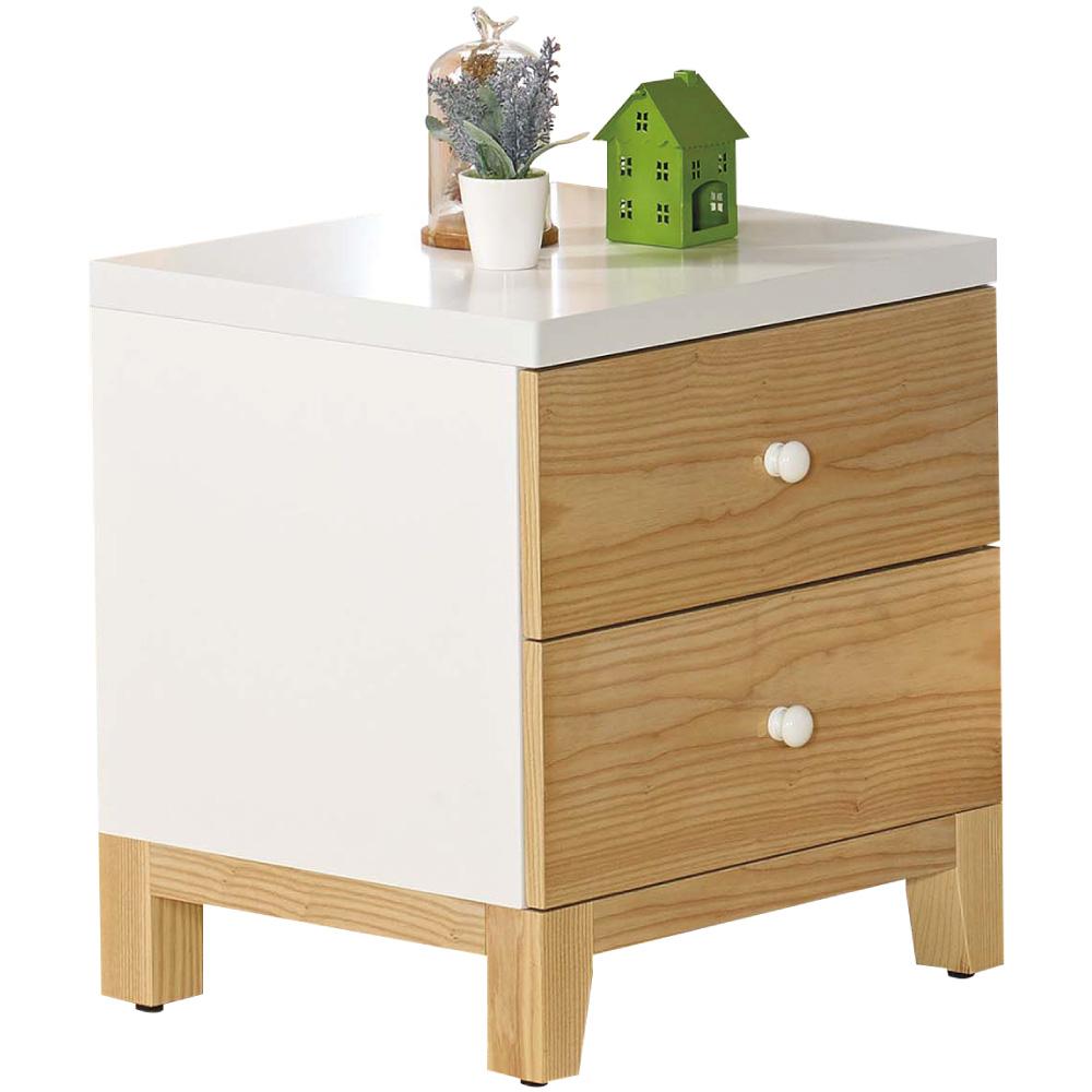 文創集 克蘿時尚1.5尺雙色床頭櫃/收納櫃-45x40x50cm免組