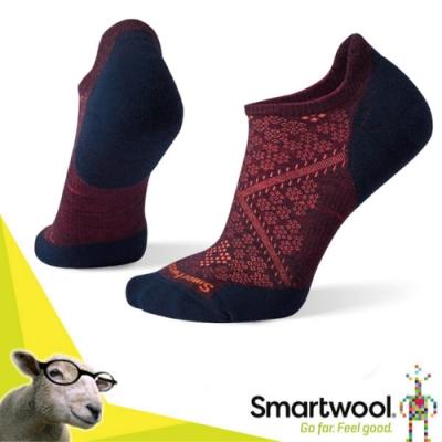 SmartWool 美國製造 美麗諾羊毛 PhD Elite 無筒輕薄羊毛跑步襪(2入)/戶外襪.排汗襪.休閒襪_葡紫藍
