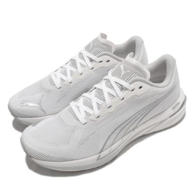 Puma 慢跑鞋 Velocity Nitro 運動休閒 女鞋 氮氣科技 輕量 回彈 反光 穿搭推薦 白 銀 37606901