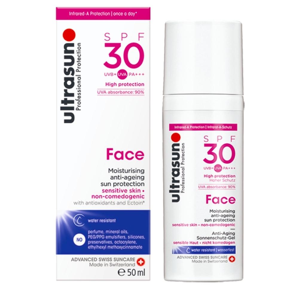 Ultrasun優佳 護顏修護防曬乳SPF30 PA+++(50ml/罐)