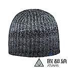 【ATUNAS 歐都納】羊毛+Primaloft科技纖維針織保暖毛帽A-A1746黑灰