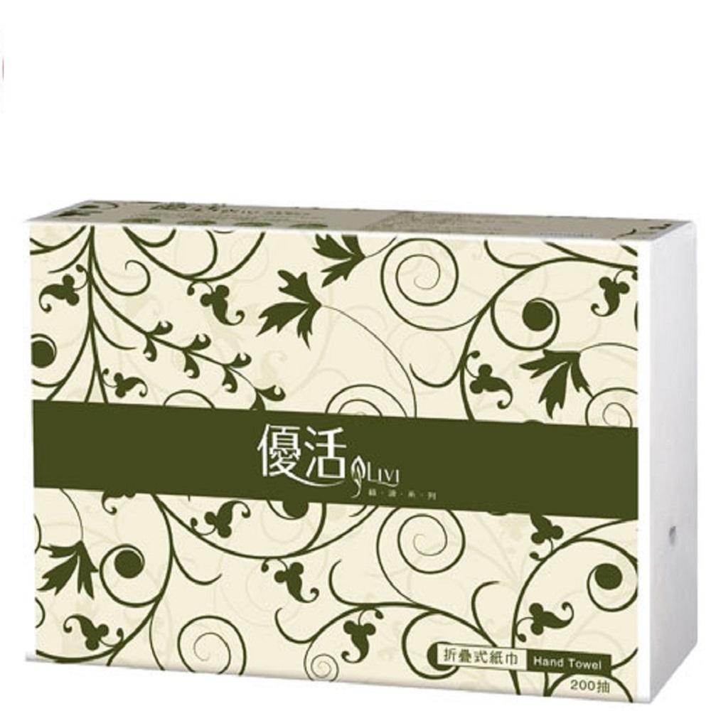 優活抽取式擦手紙巾200抽x20包/箱