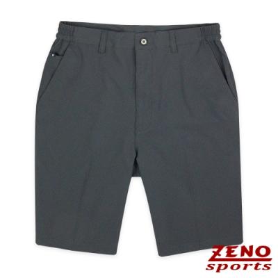 ZENO 吸濕排汗超彈性雙側鬆緊休旅短褲‧深灰