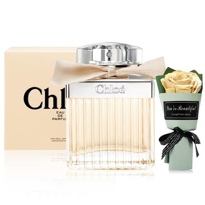 Chloe' 同名女性淡香精75ml EDP+浪漫玫瑰花束-香水航空版