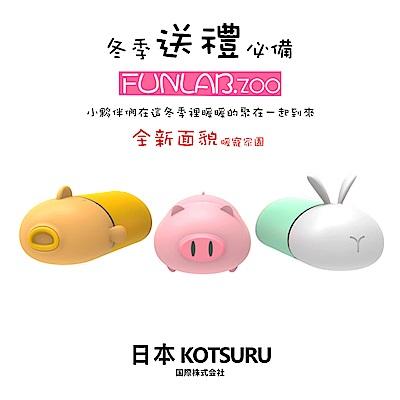 日本KOTSURU-暖暖動物園 萌寵暖手行動電源2入組