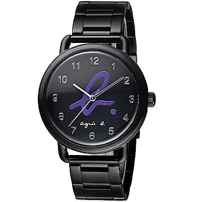 agnes b.經典Logo藝術時尚腕錶(BH8039X1)