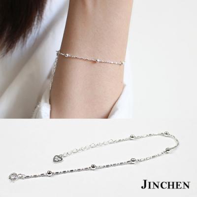 JINCHEN 純銀竹節珠珠手鍊