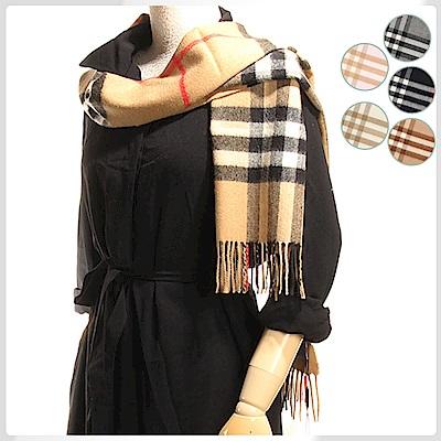 BURBERRY 經典格紋100%喀什米爾羊毛圍巾