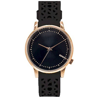 KOMONO Estelle Cutout 腕錶-黑色雕刻/36mm