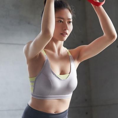 蕾黛絲-LadieSport律動Level 3 釋壓背心 M-EEL 運動內衣 勁黃灰