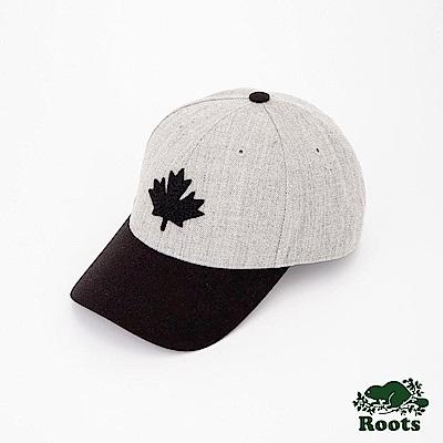 Roots配件- 楓葉雙色棒球帽-灰