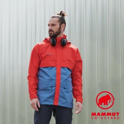【Mammut】Heritage HS GTX 防水外套 藍/紅 男款#1010-27720