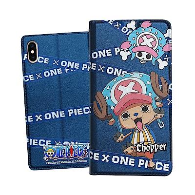 日本東映授權正版 航海王 iPhone Xs Max 6.5吋 彩繪磁力皮套(封鎖喬巴)