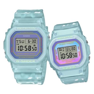 CASIO 卡西歐 G-SHOCK BABY-G 海藍夏日限量版 情侶對錶/SLV-21B-2