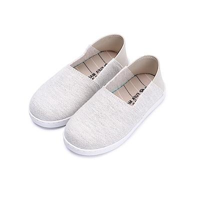 BuyGlasses 針織混色後腳踩童款懶人鞋-灰