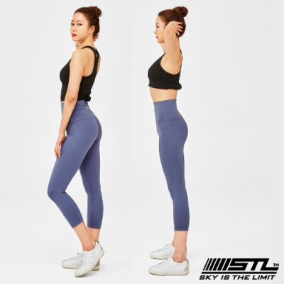 STL Yoga Leggings Pure 7 韓國 女 超高腰 運動訓練機能緊身壓力褲 瑜珈/路跑/登山/重量訓練 純粹寶寶藍